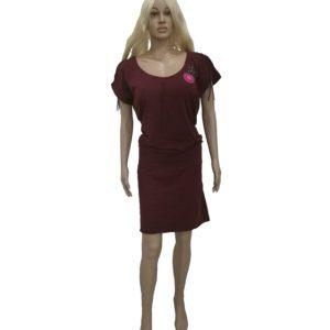 Šaty s háčkovanou aplikací