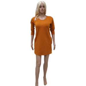 Tunika či mini šaty- okrová