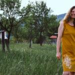 Šaty festivalové s potiskem