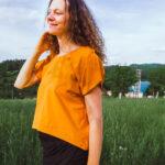 Tričko letní s rozstřihem