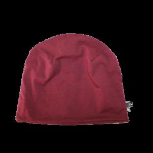 Bavlněná čepice bordó