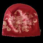 Bavlněná čepice bordó s potiskem