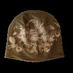 Bavlněná čepice khaki s potiskem