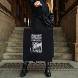 Botumy plátěná taška tenká VÍTKOVICE černá
